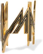 Balmain Enameled Gold-tone Cuff
