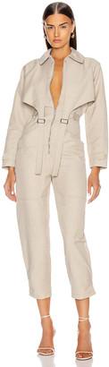 Stella McCartney Tuta Long Sleeve Jumpsuit in Desert Beige   FWRD