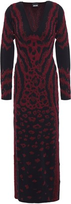 Just Cavalli Metallic Leopard-jacquard Maxi Dress