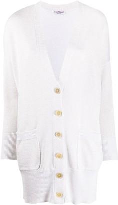 Brunello Cucinelli Metallic Knitted Cardi-Coat