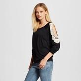 Cliche Women's Cold Shoulder Blouse Black