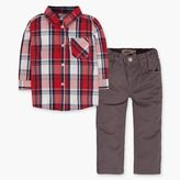 Levi's Infant Boys Woven Shirt and Pant Set (12-24 M)