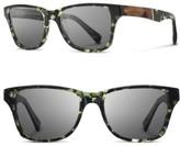 Shwood Women's Polarized Wood Inlay Sunglasses - Darkforest/ Elm/ Grey Polar