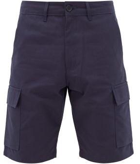Éditions M.R Editions M.R - Cotton-gabardine Cargo Shorts - Mens - Navy