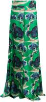 Gucci Wild cat-print high-rise wide-leg silk trousers