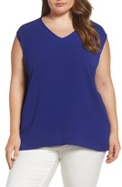 Vince Camuto Plus Size Women's Mixed Media Tank