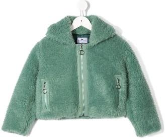 Raspberry Plum Dafni fluffy jacket