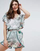 B.young Floral Top With Ruffle Detail