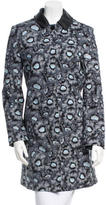 Kenzo Floral Printed Knee-Length Coat