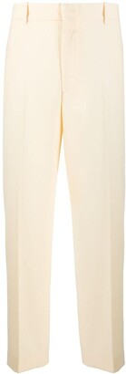Erika Cavallini High-Rise Cropped Straight-Leg Trousers