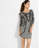 Express marled printed sweater dress