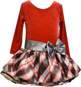 Bonnie Jean Plaid Bow Dress - Toddler Girls 2t-4t