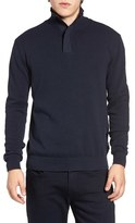 French Connection Men's Quarter Zip Sweater