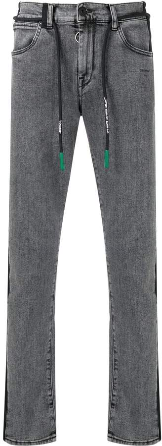 Off-White side panel jeans