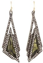 Alexis Bittar Crystal Pyramid Drop Earrings