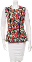 Veronica Beard Floral Print A-Line Vest