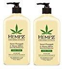 Hempz Sweet Pineapple and Honey Melon Herbal Body Moisturizer, 17 Ounce (Pack of 2)