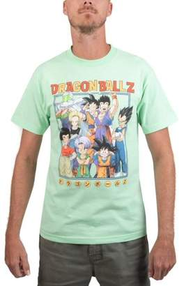 "Dragon Ball Z Men's Character Shot"" Mint Short Sleeve Graphic Tee"