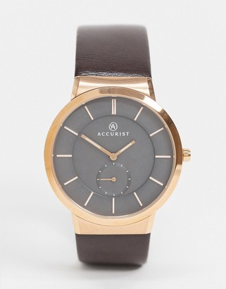 Accurist gold detail watch with black dial