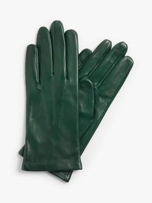 John Lewis & Partners Leather Fleece Lined Gloves