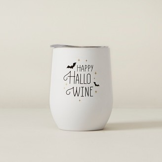 Indigo Insulated Wine Glass Happy Hallowine