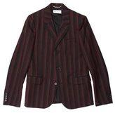 Saint Laurent Striped Three-Button Blazer w/ Tags