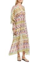 Etro Geo Print Cotton & Silk Caftan Dress