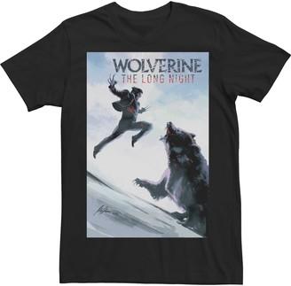 Wolverine Men's Marvel The Long Night Bear Fight Poster Tee