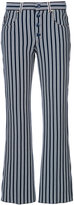 Sonia Rykiel striped straight trousers - women - Cotton/Polyester - 34