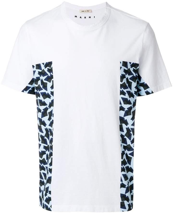 Marni print panelled T-shirt