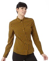 Fred Perry Womens Classic Gingham Shirt Peanut