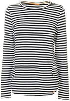 BOSS ORANGE Striped Long Sleeve T Shirt