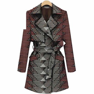 Private Customized African Coats for Women Plus Size Jacket Ankara Print Cotton Trench Wax Batik Lining Outwear Casual Lady Long Jacket 527 M