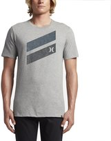 Hurley MTS0023550 Men's Icon Slash Push Through T-Shirt, Dark Grey Heather - XL