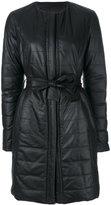 Drome padded leather coat
