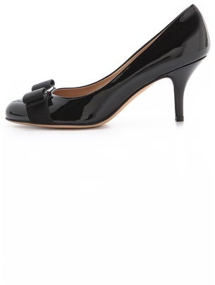 Salvatore Ferragamo Carla Round Toe Pumps