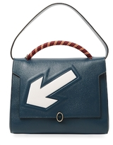 Anya Hindmarch Bathurst Arrow Small Leather Satchel
