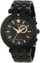 "Versace Men's 29G60D009 S060 ""V-Race"" Black Stainless Steel Watch"