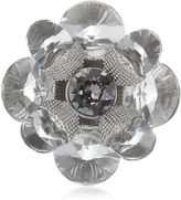 Jimmy Choo SNOW Oval Flower Metal with Crystals Shoe Buttons
