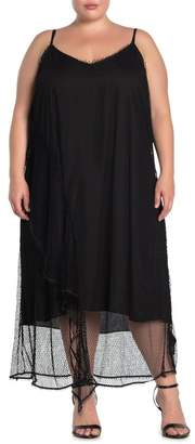 City Chic Fishnet Sleeveless Maxi Dress (Plus Size)