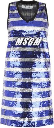 MSGM Sequinned Shift Dress