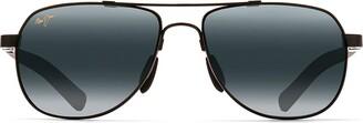 Maui Jim Guardrails 327-02 | Polarized Gloss Black Aviator Frame Sunglasses with with Patented PolarizedPlus2 Lens Technology
