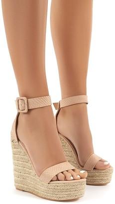 Public Desire Uk Amalie Espadrille Wedge Heeled Sandals
