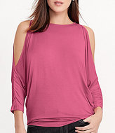 Lauren Ralph Lauren Cold Shoulder Knit Jersey Top