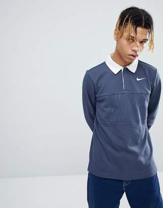 Nike Sb SB Long Sleeve Polo Shirt In Blue 885847-471