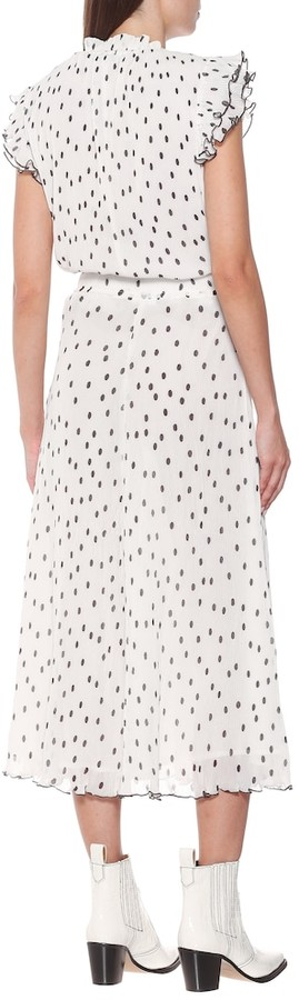 Thumbnail for your product : Ganni Dotted midi skirt