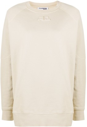Courreges Long Sleeve Embroidered Logo Jumper
