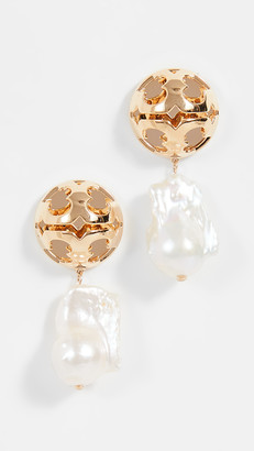 Tory Burch Bubble Miller Baroque Pearl Drop Earrings