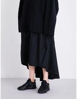 Y-3 Y3 Dropped-hem cotton-poplin skirt