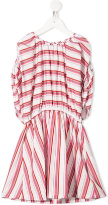 Piccola Ludo Striped Mini Dress